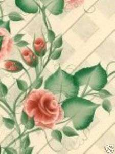 DONNA DEWBERRY ROSES ON A TRELLIS WALLPAPER