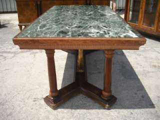 MARBLE TOP ITALIAN GILT WOOD VINTAGE DINING ROOM TABLE 11IT082D
