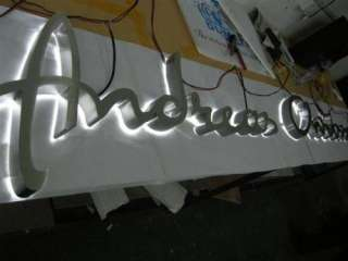 satin stainless steel channel letters SIGNS sign letters
