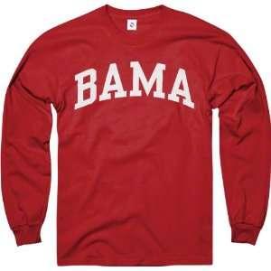 Alabama Crimson Tide Crimson Bama Arch Long Sleeve T Shirt