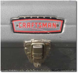 Vintage =CRAFTSMAN= Tools 1960s 70s TOOL BOX Castle Top Logo TOOLBOX