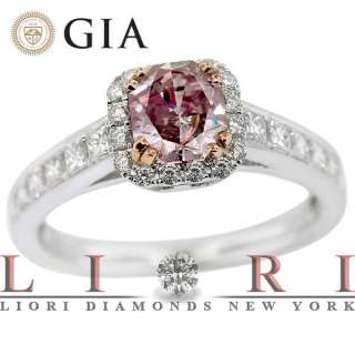 02 CARAT GIA CERTIFIED NATURAL FANCY PINK DIAMOND ENGAGEMENT RING