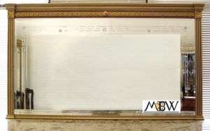 6Ft Neoclassical Etched Rectangular Buffet Wall Mirror ehverm