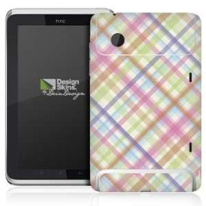 Design Skins for HTC Flyer Rueckseite   Pastellkaromuster