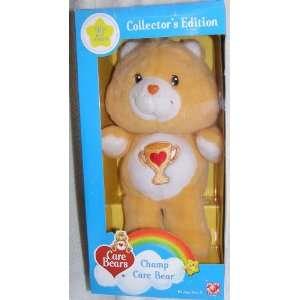 2003 Care Bears 12 Plush Champ Bear 20th Anniversary