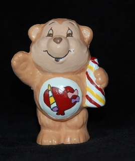 Vintage CARE BEAR COUSIN Custom PLAYFUL HEART MONKEY Mini PVC Figure