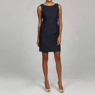 Jessica Howard Womens Petite Diagonal Tiered Dress  Overstock