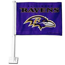 Baltimore Ravens 19 inch Car Flag