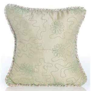Meadow Green Embroidery Pillow with Cord Baby