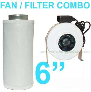 IN LINE Duct Fan & Carbon Filter COMBO inch inline