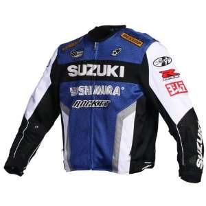 Joe Rocket Suzuki Mesh Replica Jacket   5X Large/Blue/White/Black