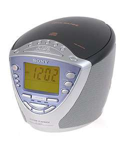 Sony ICF CD853V CD/AM/FM/TV Band/Weather Band Clock Radio (Refurbished