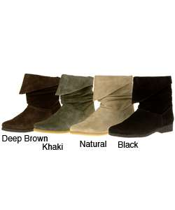 On Your Feet Mayenne Womens Short Suede Ankle Boot