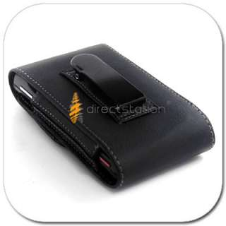 LEATHER CASE COVER POUCH W Belt CLIP Sprint HTC EVO 3D