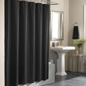 Curtain black shower curtain polyester shower curtain bathroom