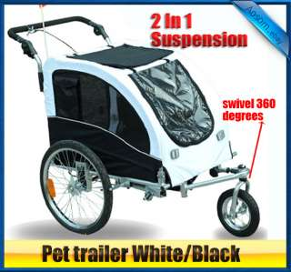 IN1 Double Pet Trailer Bike Trailer/Stroller jogging Suspension