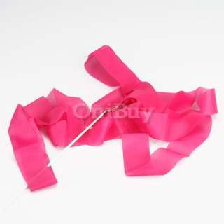 Gym Rhythmic Gymnastic Ballet Dance Ribbon Streamer Rod Baton Twirling