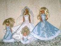 Silver N Blue Wedding Pattern Barbie Stacie Kelly Dolls