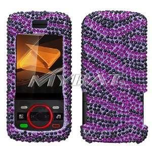 Debut i856 Boost Mobile,Sprint,Nextel   Zebra Skin (Purple/Black