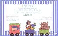 Boys Choo Choo Train Birthday Invitations~Conductor