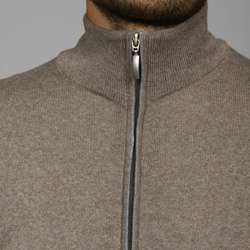Toscano Mens Merino Wool Full zip Vest