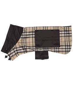 Burberry Black/ Beige Nova Check Dog Rain Coat
