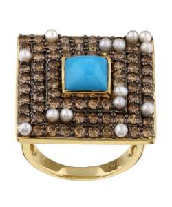 Encore by Le Vian 14k Gold Turquoise and Pearl Ring