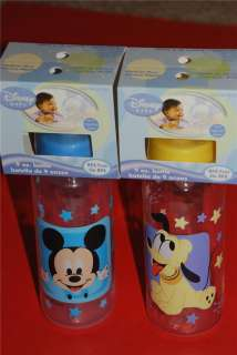DISNEY MICKEY MOUSE MINNIE PLUTO BABY INFANT BOTTLES *