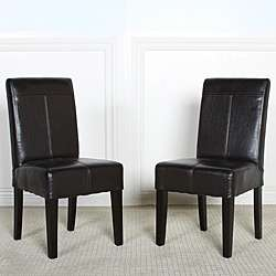 Isabella Dark Brown Patent Leather Childrens Dining Chair (Set of 2