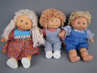 Vintage Lot Mini Soft Body Cabbage Patch Kids Dolls 9
