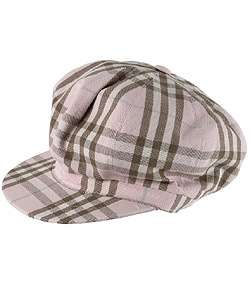Burberry Womens Nova Check Newsboy Hat