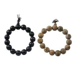 Wrist Mala, Yin Yang Pair of Buddha Meditation Prayer Beads Bracelets