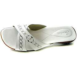 Sandies Womens Apres Capri White Golf Sandals