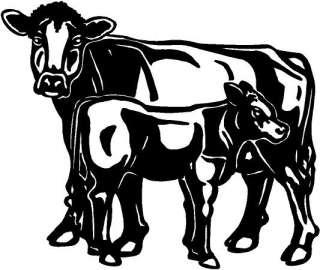 Brown Swiss Cows Vinyl Decal Car Truck Window Sticker