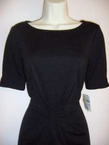 DONNA MORGAN Black Short Sleeve Ponte Knit Career/Versatile Dress 6