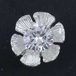 Sterling Silver Cubic Zirconia Orchid Ring (Israel)