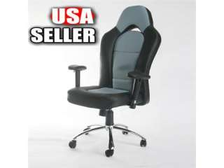 Grey High Back Executive Leather Ergonomic Office Chair