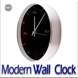 New Modern Silent Round Wall Clock Home Office Bathcul