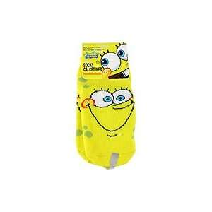 Spongebob Squarepants Yellow Socks Happy Face   1 pair,(Nickelodeon