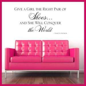 GIVE A GIRL   MARILYN MONROE   Wall Quote Sticker **