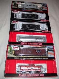 ATLAS H.O. SL SF FRISCO 6 PACK ASSORTED FREIGHT CARS
