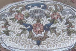 FLORAL Ivory BEADED/EMBROIDERED Evening Bag/DANCE PURSE~BELGIUM