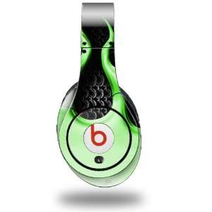 Flames Green Decal Style Skin (fits genuine Beats Studio Headphones