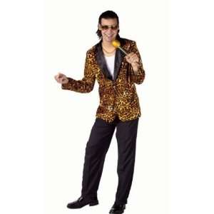 80s Leopard Print Pub Singer Mens Fancy Dress Costume