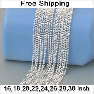 10X Wholesale Fashion jewelry 60% Silver Beads Ball Chain Necklaces 16