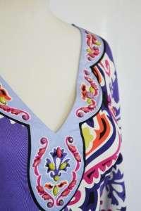 Hale Bob Silk Jersey Dress S 4 6 UK 8 10 NWT $356 Moscow Nights Purple