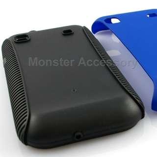 Blue Duel Flex Hard Case Cover Samsung Galaxy S i9000