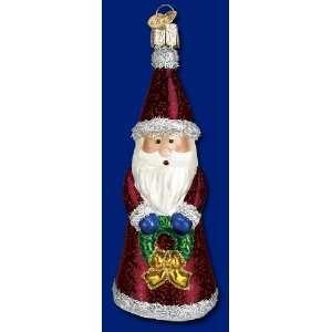 Old World festive Father Christmas ornament glass 5 Santa