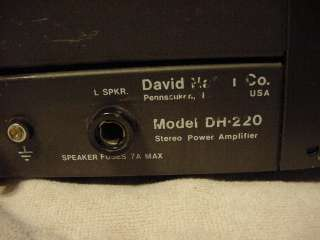 Hafler DH 220 Stereo 2 Channel Power Amplifier