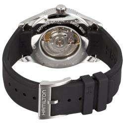 Hamilton Mens Seaview Day Date Black Rubber Strap Automatic Watch